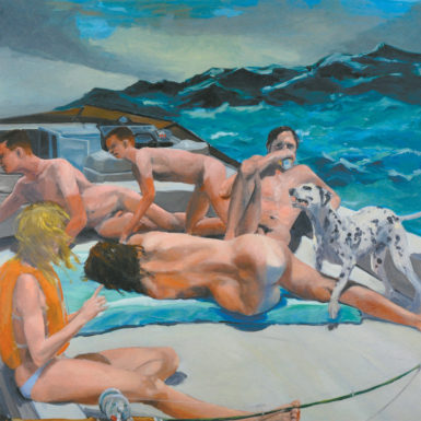 Eric Fischl: The Old Man's Boat and the Old Man's Dog, 84 x 84 inches, 1982