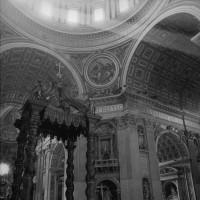Bernini's baldacchino, Saint Peter's Basilica, Vatican City, 1978