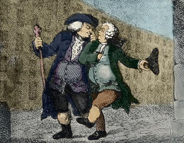 Thomas Rowlandson: Walking up the High Street, 1786