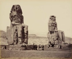 Francis Bedford: <i>The Colossi on the Plains of Thebes</i>, March 17, 1862