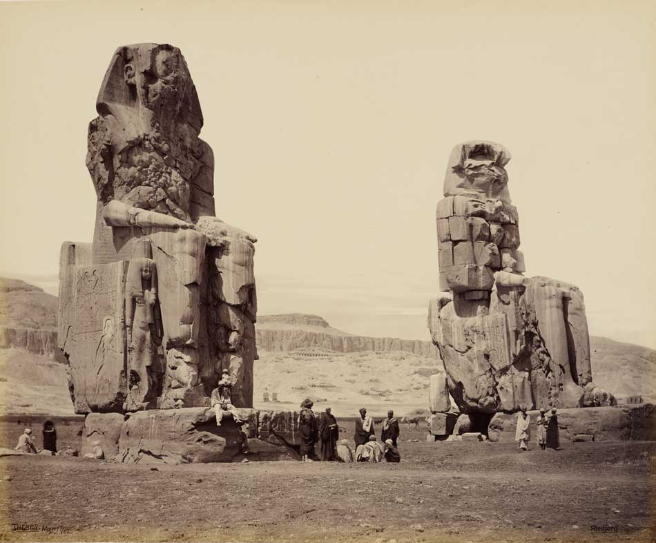 Francis Bedford: The Colossi on the Plains of Thebes, March 17, 1862