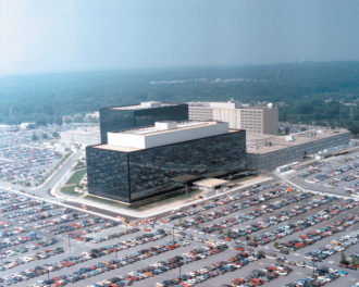The headquarters of the National Security Agency, Fort Meade, Maryland