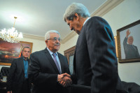 Secretary of State John Kerry with Palestinian President Mahmoud Abbas, Amman, Jordan, June 29, 2013