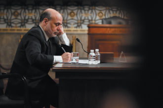 Federal Reserve Chairman Ben Bernanke testifying at a Joint Economic Committee hearing on the current economic outlook, Washington, D.C., May 2013