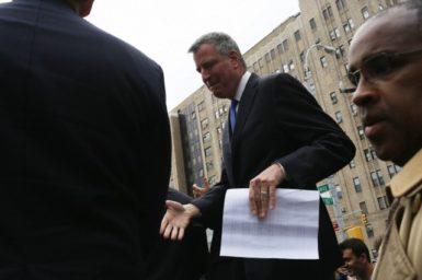 New York City mayoral candidate Bill de Blasio, May 15, 2013