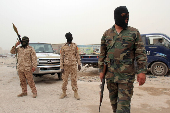 Members of the Libyan rapid intervention force at a checkpoint in Benghazi, Libya, May 16, 2013