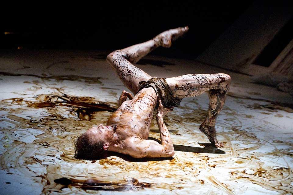 Edward Watson as Gregor Samsa in The Metamorphosis