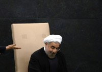 Iranian president Hassan Rouhani at the United Nations, New York, September 24, 2013