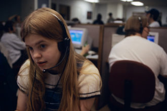 Teenage telemarketer, Lincoln, Nebraska, 1997