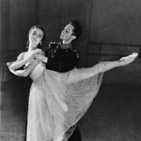 Elena Tchernichova with a Vaganova Institute classmate, Leningrad, circa 1958