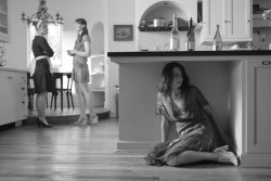 Amy Acker, right, as Beatrice in Joss Whedon's <i>Much Ado About Nothing</i>