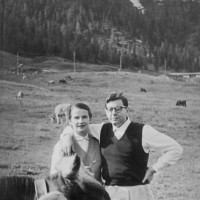 Alexander Stille's parents, Elizabeth and Misha, in Europe, 1950s