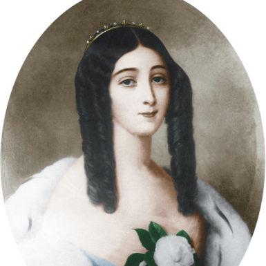 Marie Duplessis (1824-1847), courtisane francaise, elle inspira le personnage de Marguerite Gauthier de