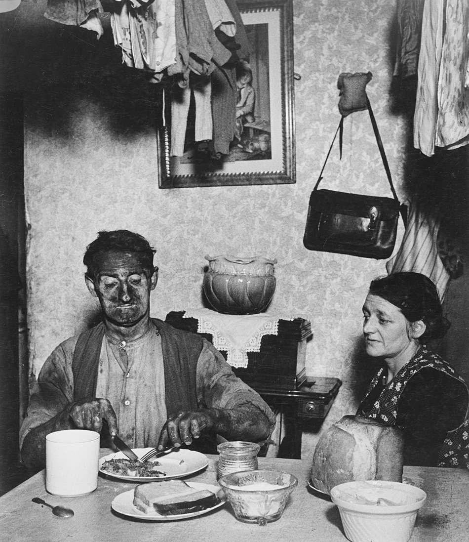 Bill Brandt: Northumbrian Miner at His Evening Meal, 1937; from 'Bill Brandt: Shadow and Light,' a recent exhibition of his photographs at MoMA. The catalog, by Sarah Hermanson Meister, is published by MoMA and distributed by DAP. For more on Brandt's work, see the NYRgallery.