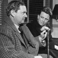 Evelyn Waugh and J.F. Powers, 1949