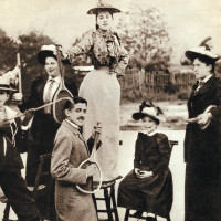 Marcel Proust on vacation with his family, circa 1892