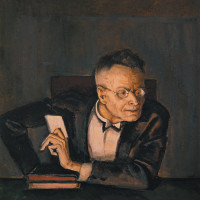 Karl Kraus; portrait by Alfred Hegel