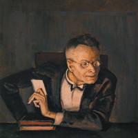 Karl Kraus; portrait by Alfred Hegel