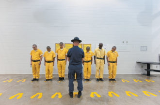 An orientation training session at the Youthful Offender System prison in Pueblo, Colorado, 2010