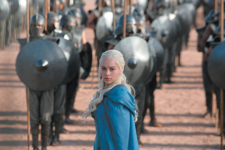 Emilia Clarke as Daenerys Targaryen in HBO's Game of Thrones