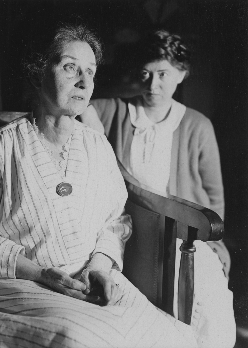 Marianne Moore (right) and her mother, Mary Warner Moore, at home in Brooklyn, 1932