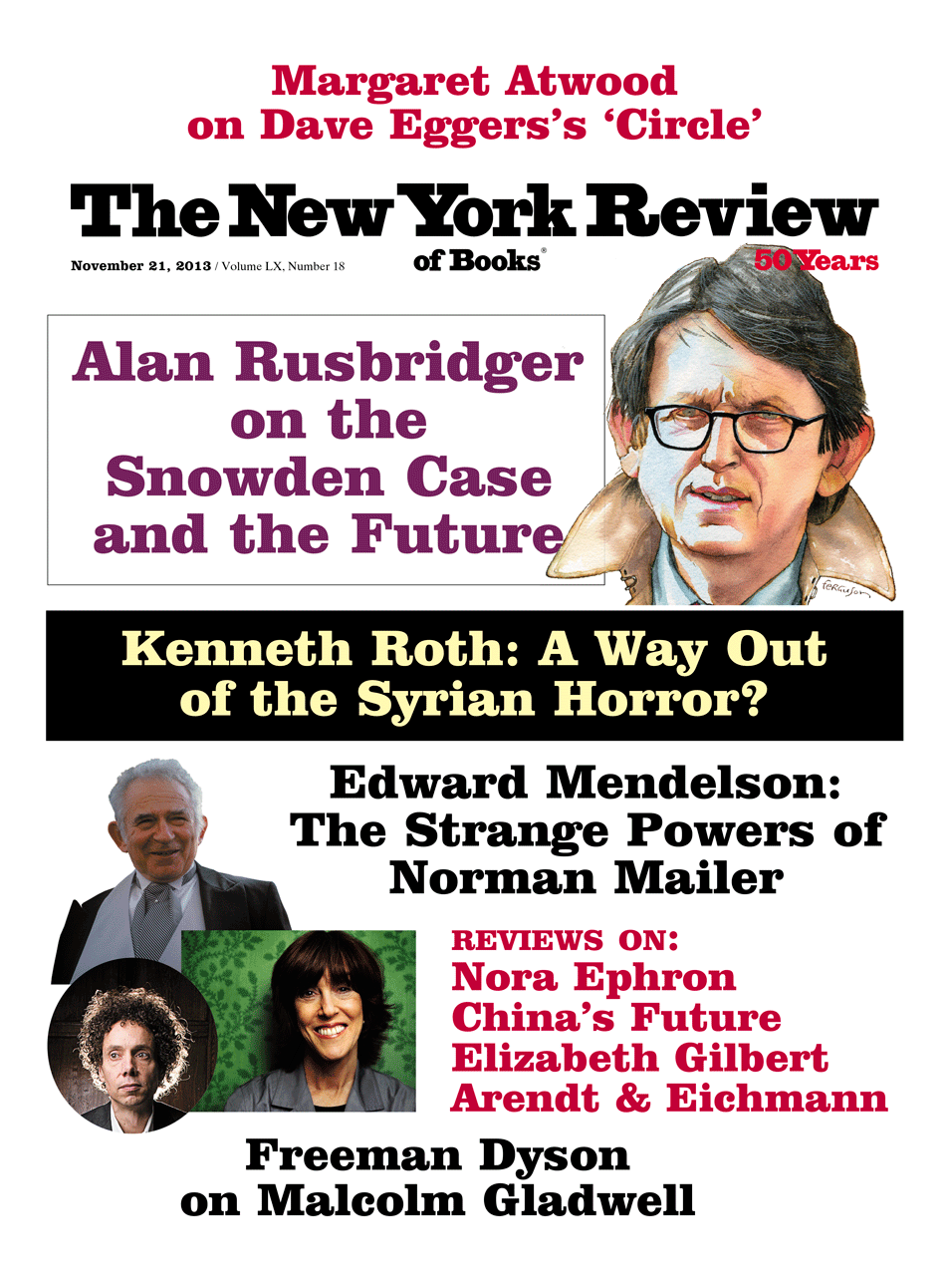 Image of the November 21, 2013 issue cover.