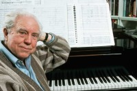 Elliott Carter at the piano, 1989