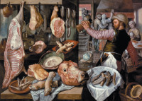 Joachim Beuckelaer: The Butcher Shop, 1568