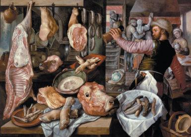 Joachim Beuckelaer: The Butcher Shop, 1568