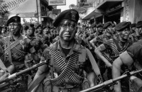 The Kaibiles, a special counterinsurgency force of the Guatemalan army that has been accused of human rights violations, Guatemala City, 1988