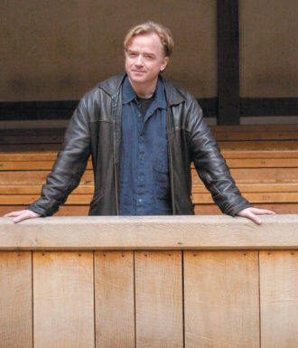 Glyn Maxwell at the Globe Theatre, London, 2008