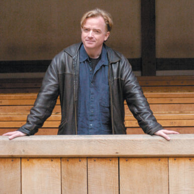 Glyn Maxwell at the Globe Theatre, London, 2008