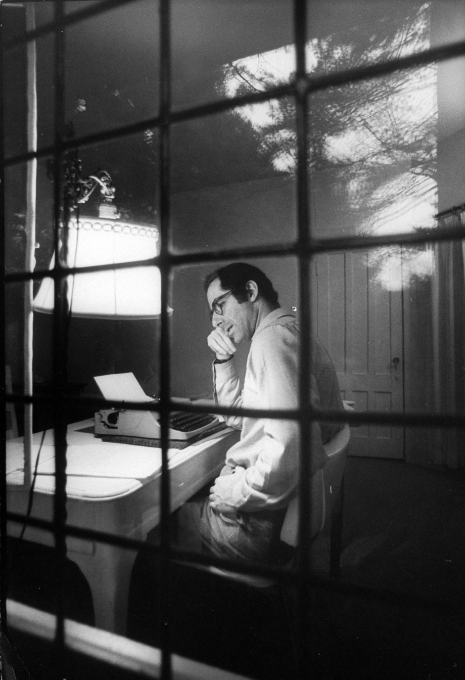 Philip Roth at the Yaddo artists' retreat, December 1968