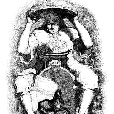 Cover illustration for Gulliver's Travels by Grandville, 1838
