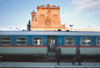 A train in Gravina, Puglia, Italy, 1991
