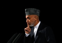 Afghan President Hamid Karzai in Kabul, September 17, 2013