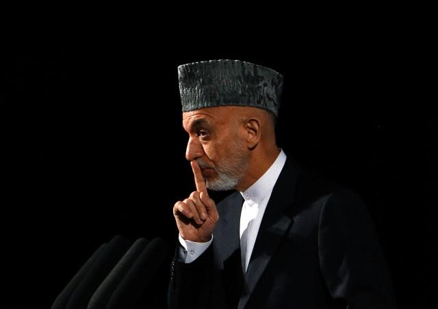 Afghan President Hamid Karzai in Kabul, September 17, 2013