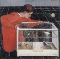 Broncia Koller: Silvia Koller with a Bird Cage, 1907–1908