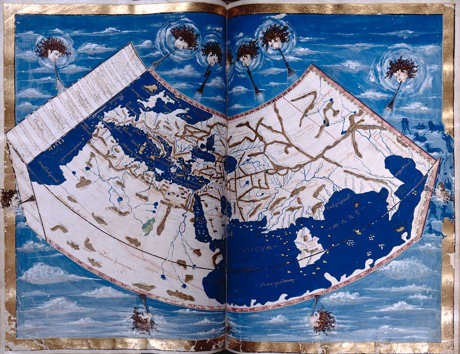 A folio from a fifteenth-century Latin translation of Ptolemy's Geography
