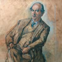 Isaiah Berlin; portrait by Derek Hill, 1975