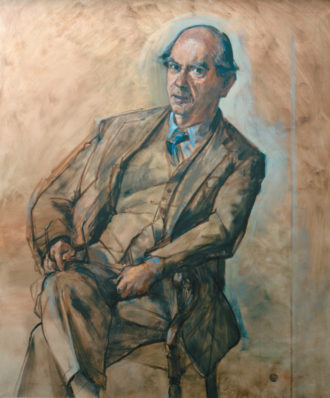Isaiah Berlin; portrait by Derek Hill, 1975