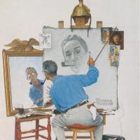 Norman Rockwell: <i>Triple Self-Portrait</i>, 1960