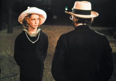 Björn Andrésen as Tadzio and Dirk Bogarde as Gustav von Aschenbach in Luchino Visconti's film Death in Venice (1971)