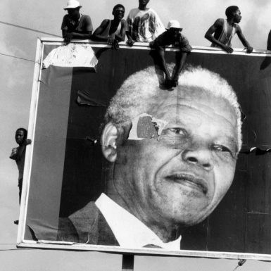 Supporters awaiting the arrival of Nelson Mandela, Lamontville, South Africa, 1994