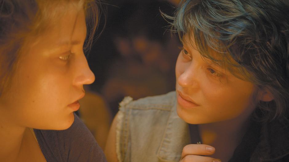 Adèle Exarchopoulos as Adèle and Léa Seydoux as Emma in Abdellatif Kechiche's Blue Is the Warmest Color