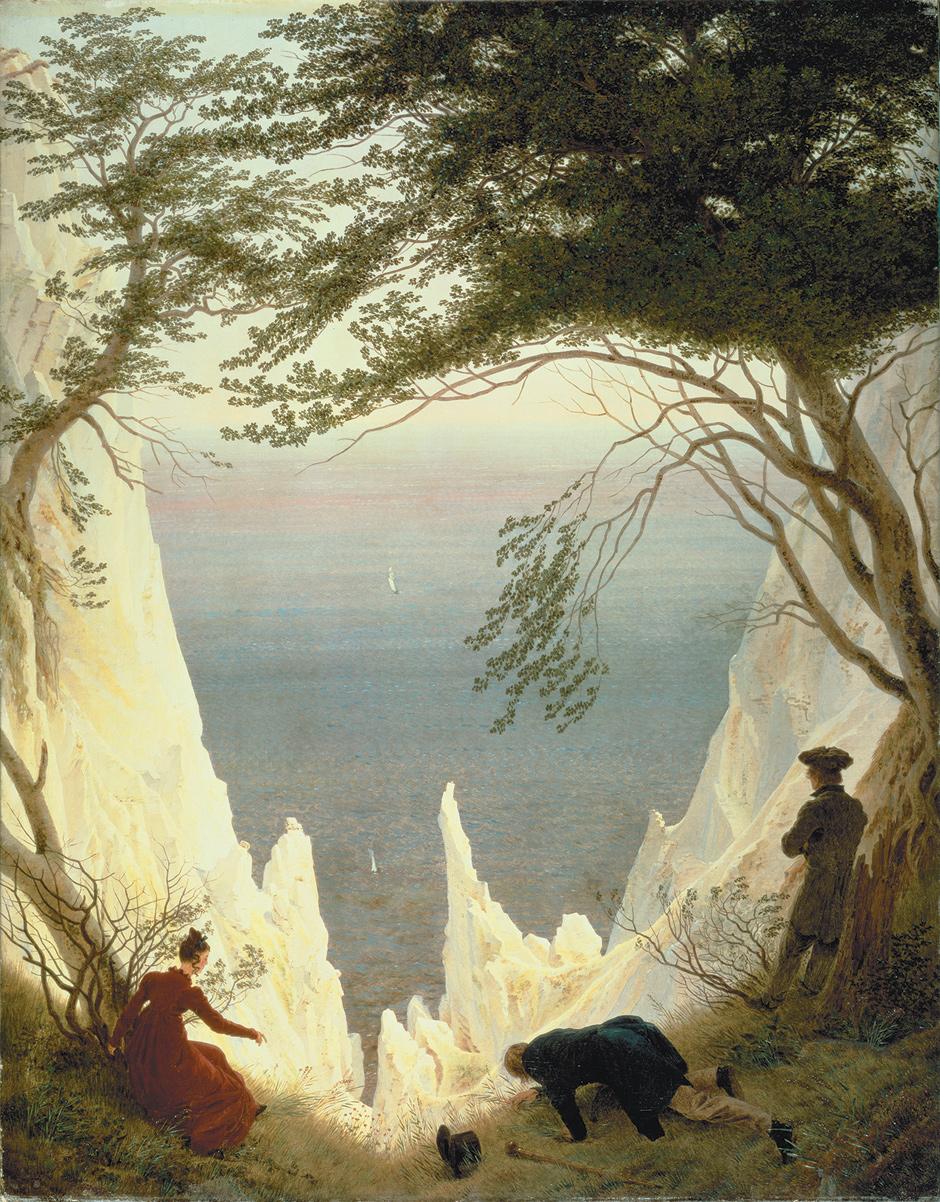Caspar David Friedrich: Chalk Cliffs in Ruegen, 1818–1819