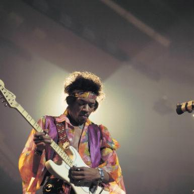 Jimi Hendrix performing at the Royal Albert Hall, London, 1969