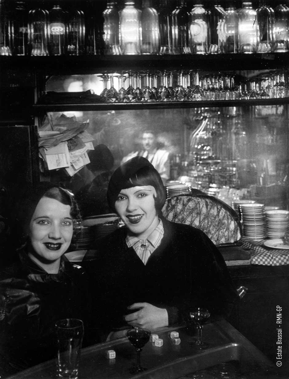 Brassai 95 Prostitutes at a bar.jpg