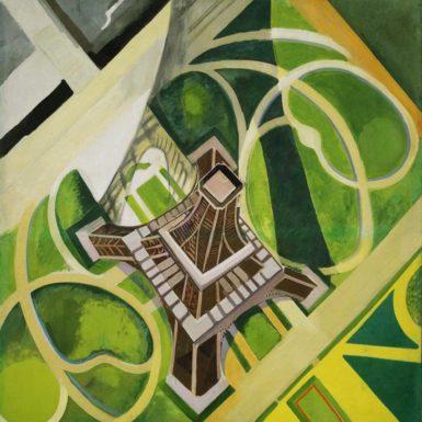 Robert Delaunay: La Tour Eiffel et Jardin du Champ de Mars, 1922