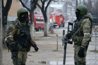 Russian special force soldiers during an anti-terrorist operation in Makhachkala, Dagestan, January 20, 2014